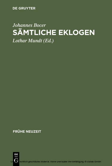 Sämtliche Eklogen - Blick ins Buch
