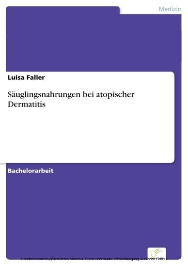 Säuglingsnahrungen bei atopischer Dermatitis - Blick ins Buch