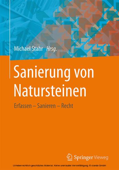 Sanierung von Natursteinen - Blick ins Buch