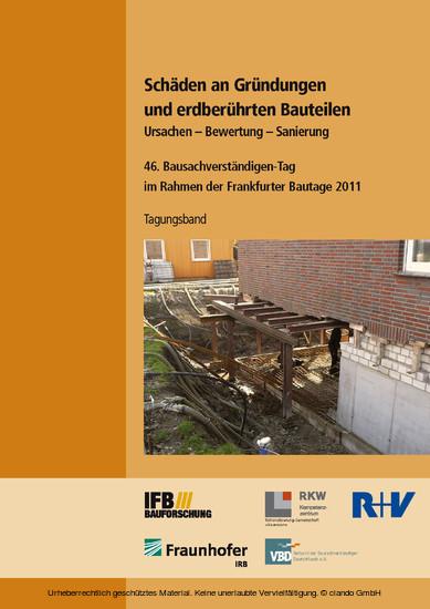 Schäden an Gründungen und erdberührten Bauteilen. Ursachen - Bewertung - Sanierung. - Blick ins Buch