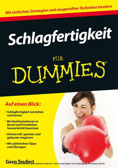 Schlagfertigkeit für Dummies - Blick ins Buch