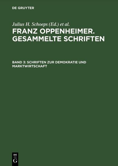 Schriften zur Demokratie und Marktwirtschaft - Blick ins Buch