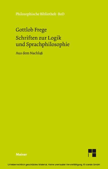 Schriften zur Logik und Sprachphilosophie - Blick ins Buch