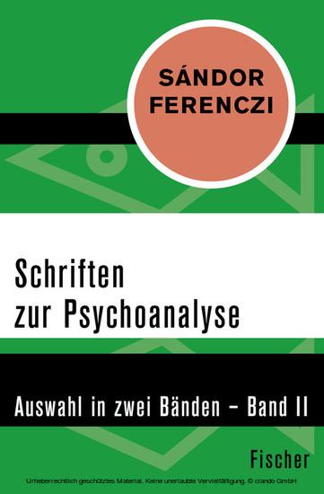 Schriften zur Psychoanalyse - Blick ins Buch