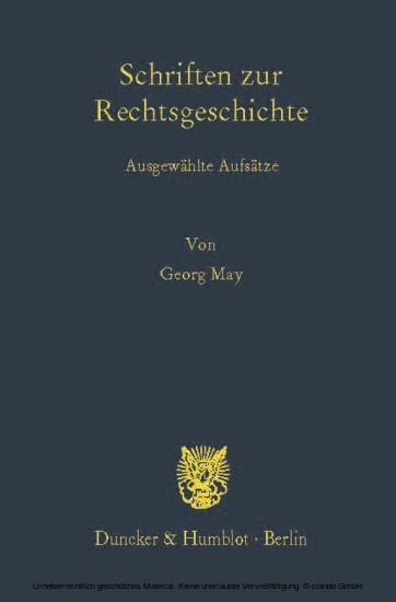 Schriften zur Rechtsgeschichte. - Blick ins Buch