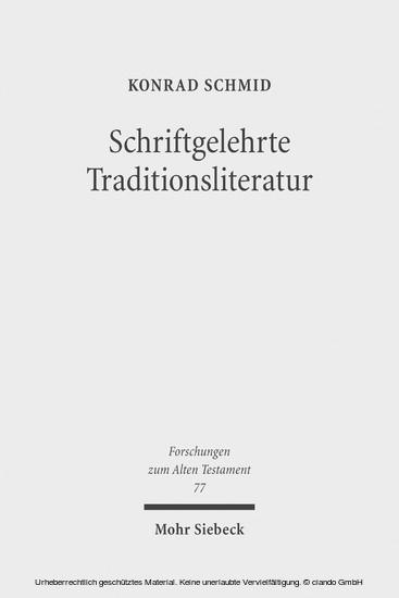 Schriftgelehrte Traditionsliteratur - Blick ins Buch