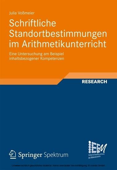 Schriftliche Standortbestimmungen im Arithmetikunterricht - Blick ins Buch