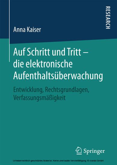 Auf Schritt und Tritt - die elektronische Aufenthaltsüberwachung - Blick ins Buch