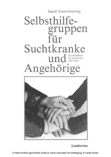 Selbsthilfegruppen für Suchtkranke und Angehörige - Blick ins Buch