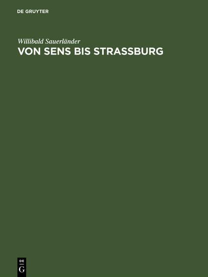 Von Sens bis Strassburg - Blick ins Buch