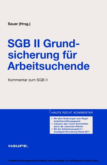 SGB II Grundsicherung für Arbeitsuchende. Haufe Recht Kommentar (Band 4713 - Kommentar zum SGB II) - Blick ins Buch