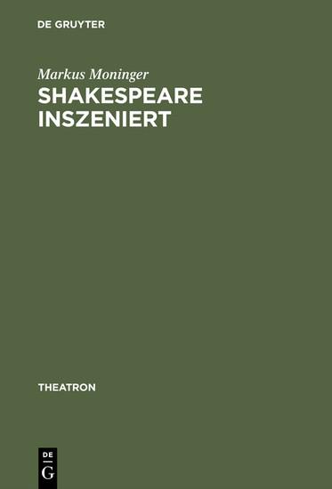 Shakespeare inszeniert - Blick ins Buch