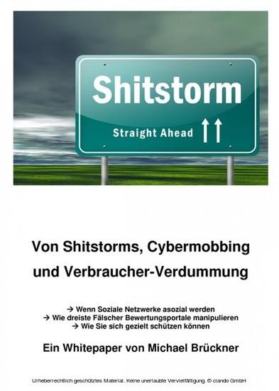 Von Shitstorms, Cybermobbing und Verbraucher-Verdummung - Blick ins Buch