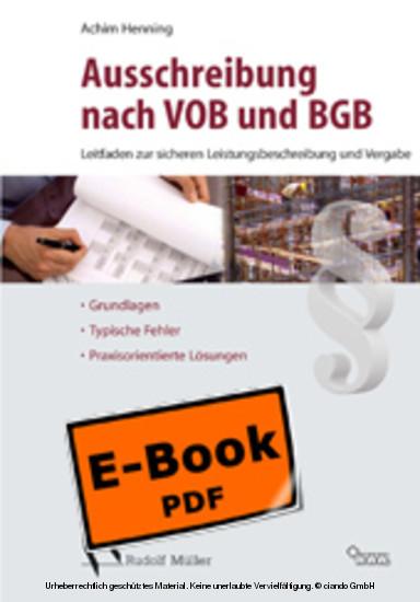 Sicher Ausschreiben nach VOB und BGB - Blick ins Buch