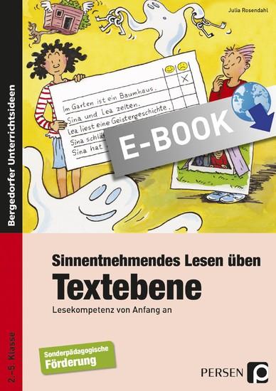 Sinnentnehmendes Lesen üben: Textebene - Blick ins Buch