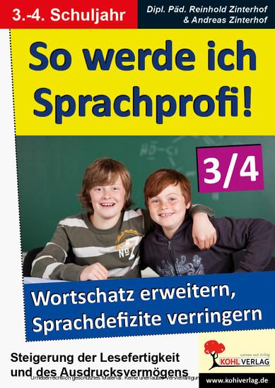 So werde ich Sprachprofi! / Klasse 3-4 - Blick ins Buch