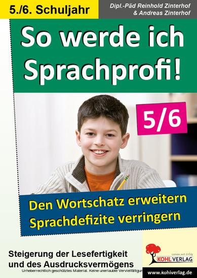So werde ich Sprachprofi! / Klasse 5-6 - Blick ins Buch