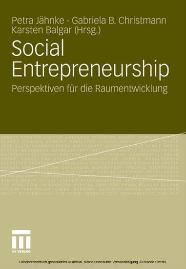 Social Entrepreneurship - Blick ins Buch