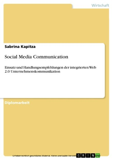 Social Media Communication - Blick ins Buch