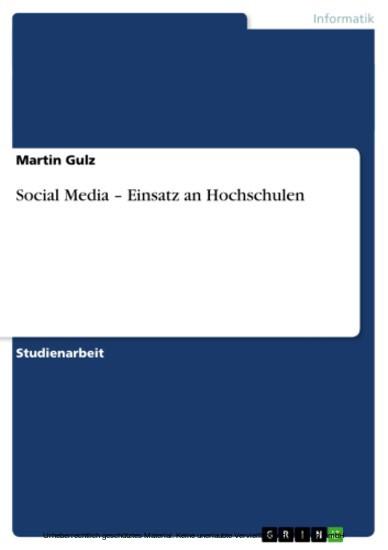Social Media - Einsatz an Hochschulen - Blick ins Buch