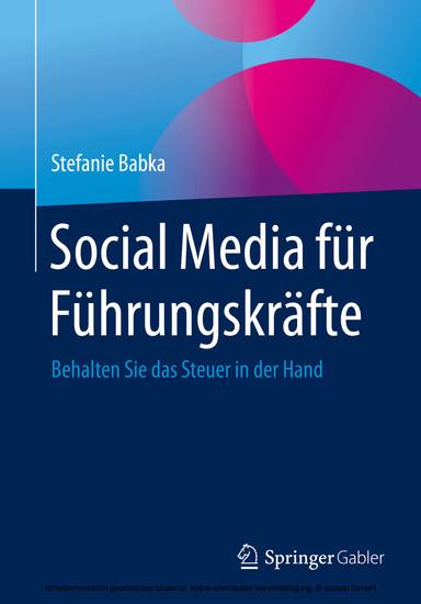 Social Media für Führungskräfte - Blick ins Buch