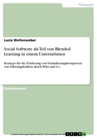 Social Software als Teil von Blended Learning in einem Unternehmen - Blick ins Buch