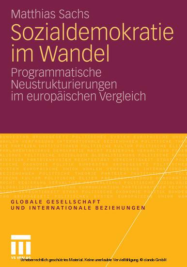 Sozialdemokratie im Wandel - Blick ins Buch