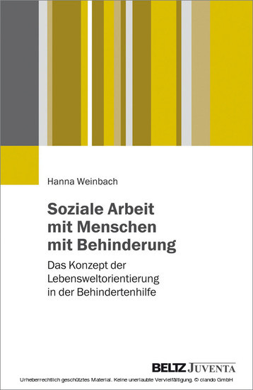 Soziale Arbeit mit Menschen mit Behinderungen - Blick ins Buch