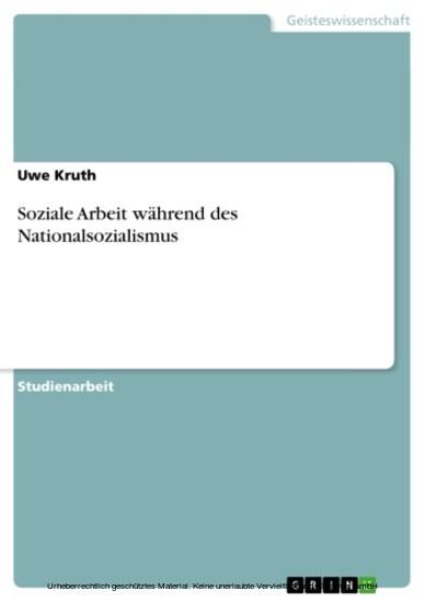 Soziale Arbeit während des Nationalsozialismus - Blick ins Buch