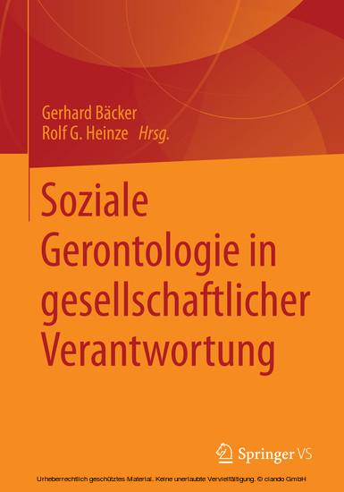 Soziale Gerontologie in gesellschaftlicher Verantwortung - Blick ins Buch