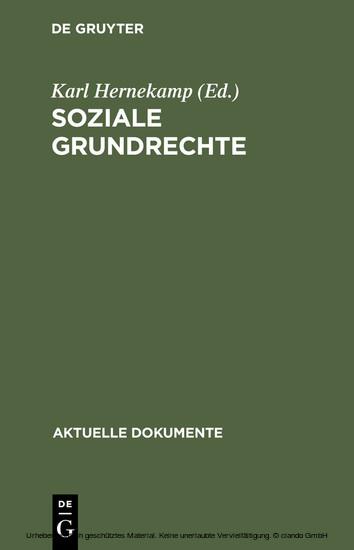 Soziale Grundrechte - Blick ins Buch