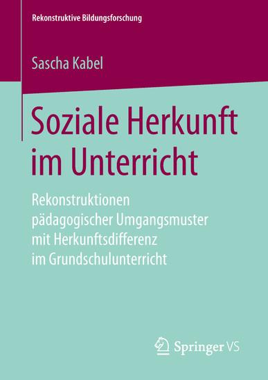 Soziale Herkunft im Unterricht - Blick ins Buch