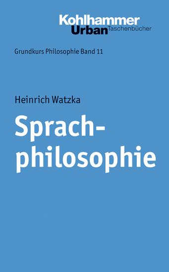 Sprachphilosophie - Blick ins Buch