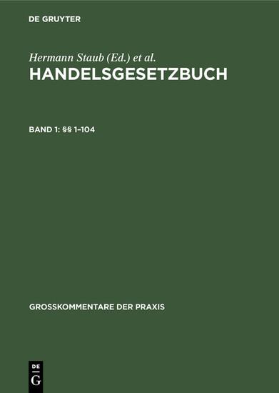 §§ 1-104 - Blick ins Buch