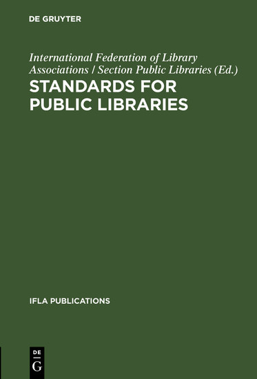 Standards for public libraries - Blick ins Buch