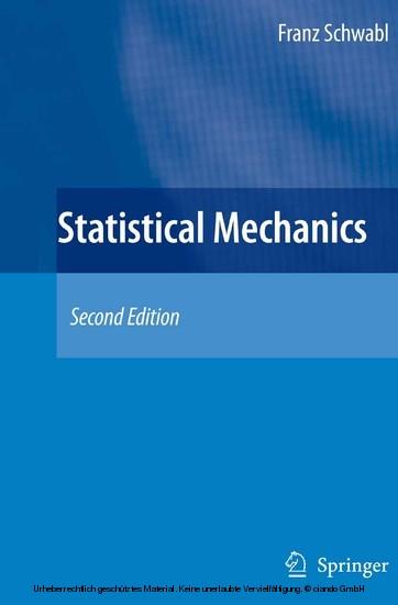 Statistical Mechanics - Blick ins Buch