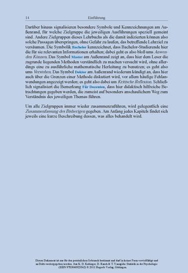 Statistik in der Psychologie - Blick ins Buch