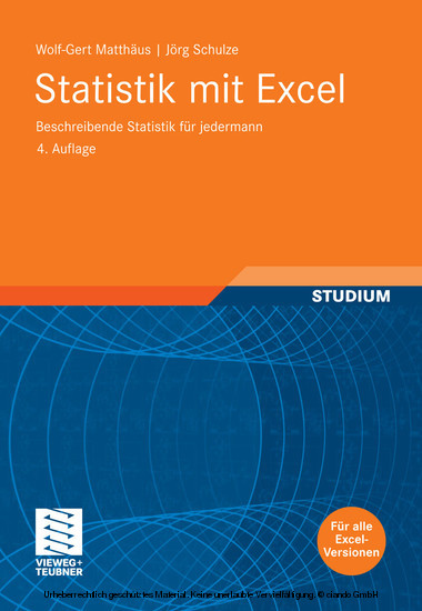 Statistik mit Excel - Blick ins Buch