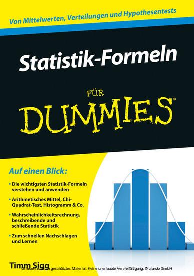 Statistik-Formeln für Dummies - Blick ins Buch