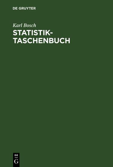 Statistik-Taschenbuch - Blick ins Buch