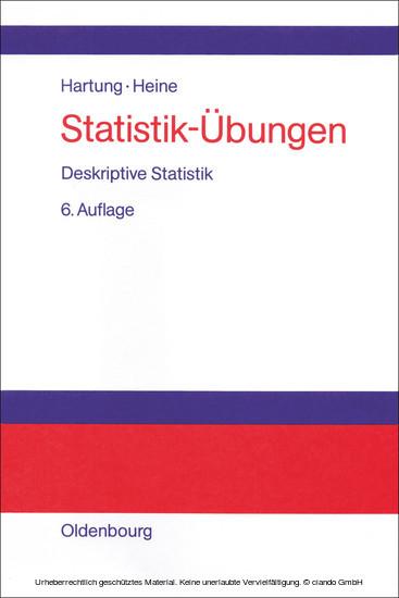 Statistik-Übungen - Blick ins Buch
