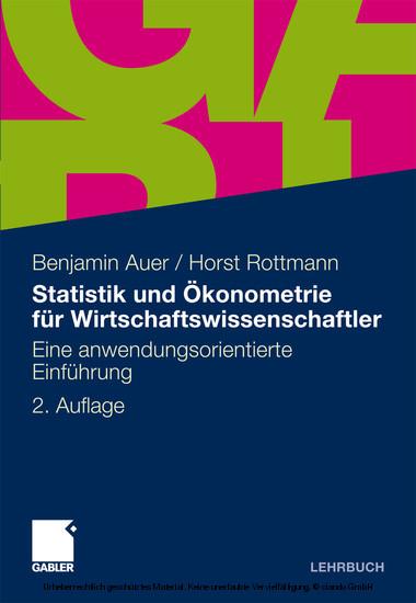 Statistik und Ökonometrie für Wirtschaftswissenschaftler - Blick ins Buch