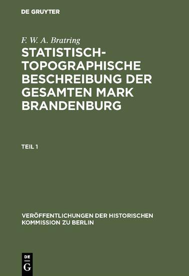 Statistisch-topographische Beschreibung der gesamten Mark Brandenburg - Blick ins Buch