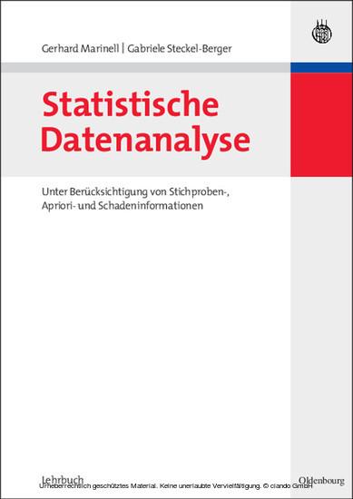 Statistische Datenanalyse - Blick ins Buch