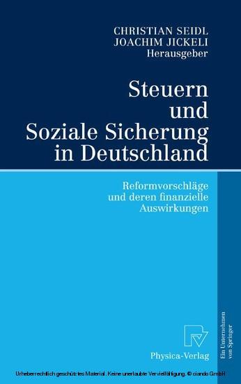 Steuern und Soziale Sicherung in Deutschland - Blick ins Buch