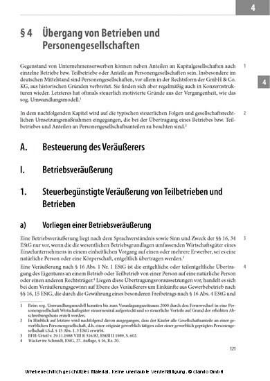 Steueroptimierter Unternehmenskauf - Blick ins Buch