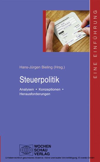Steuerpolitik - Blick ins Buch
