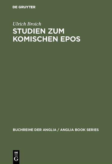 Studien zum komischen Epos - Blick ins Buch