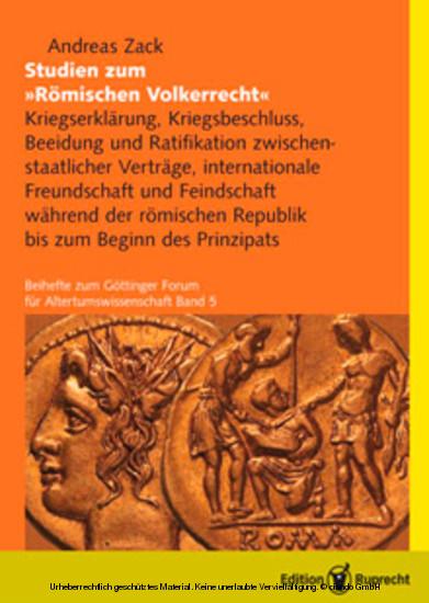 Studien zum Römischen Völkerrecht - Blick ins Buch