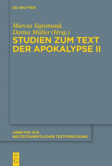 Studien zum Text der Apokalypse II - Blick ins Buch